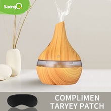 saengQ Humidifier Electric Aroma Air Diffuser Wood Ultrasonic Air Humidifier Essential Oil Aromatherapy Cool Mist Maker For Home