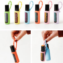 6PCS Silicone Essential Oil 10ml Protective Cases with Solid Color Bottle Doterra Case Protect Bottle Doterra Essential Oil Case