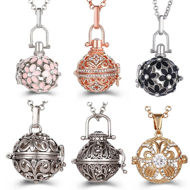 Mexico Chime Music Angel Ball Caller Locket Necklace Vintage Pregnancy Necklace Aromatherapy Essential Oil Diffuser Accessories
