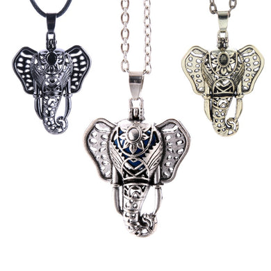 Elephant Aromatherapy Jewelry Diffuser Necklace Magnet Lockets Pendants Aroma Perfume Essential Oil Diffuser Women's Necklace