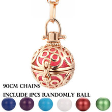 2019 Angel Wings Hollow Necklace Vintage Jewelry Music Ball Essential Oil Diffuser Pregnancy Pendant Summer Romantic Accessories
