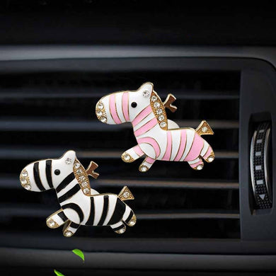 Car Ornaments Lovely Zebra Dolls Air Freshener Perfume Diffuser Toy Automobile Interior Dashboard Decoration Car Accessories