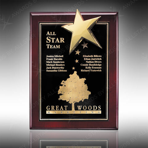 Flare Star Plaque