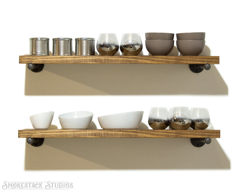 Open Pipe Shelves (Set of 2)