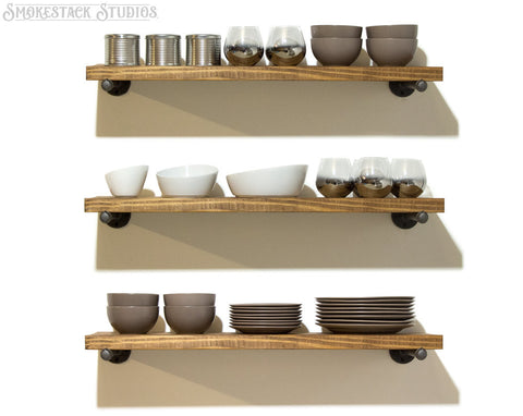 Open Pipe Shelves (Set of 3)