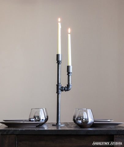 Pipe Candlestick Holder