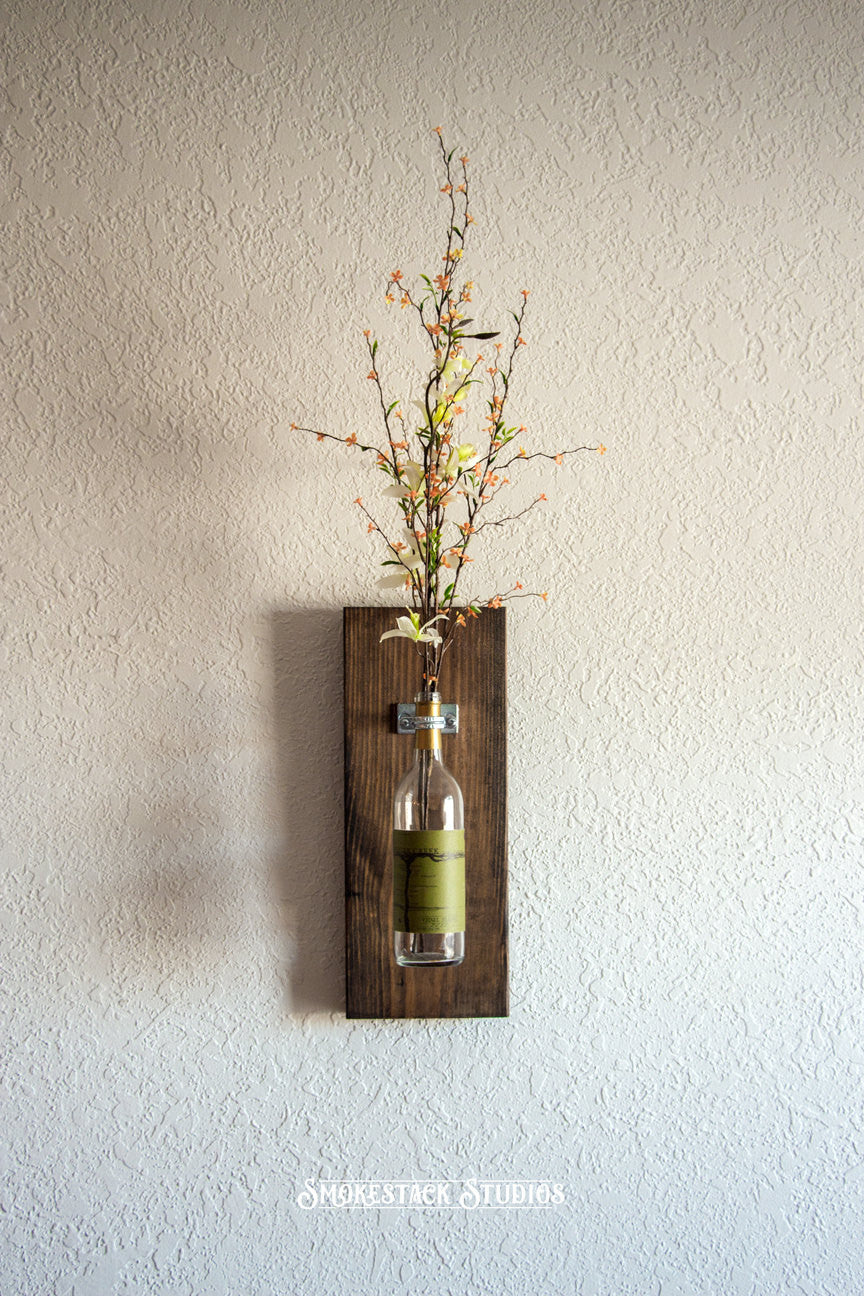 Wine bottle wall vase smokestack studios wine bottle wall vase reviewsmspy
