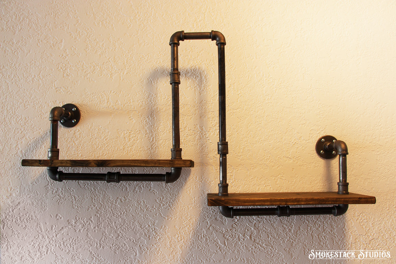 Corner Pipe Shelf