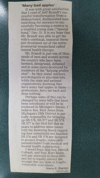 """Letters to the Editor,"" Northville Record"