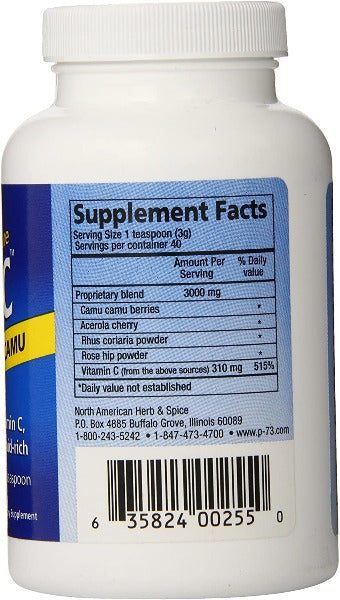 Vitamin C Purely C 120g Bulk Powder