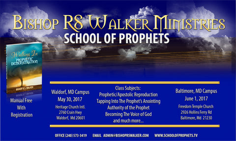 Walking In Prophetic Demonstration School of Prophets