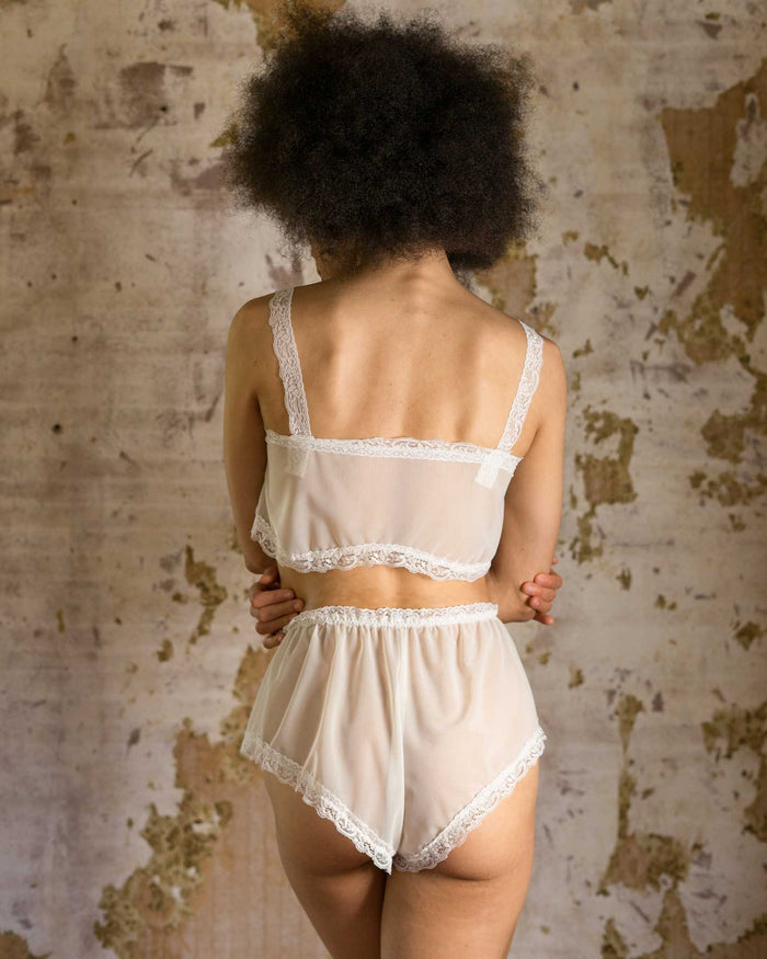 Honeymooner Bridal White Lace Bottoms - Siobhan Barrett Handmade Lingerie
