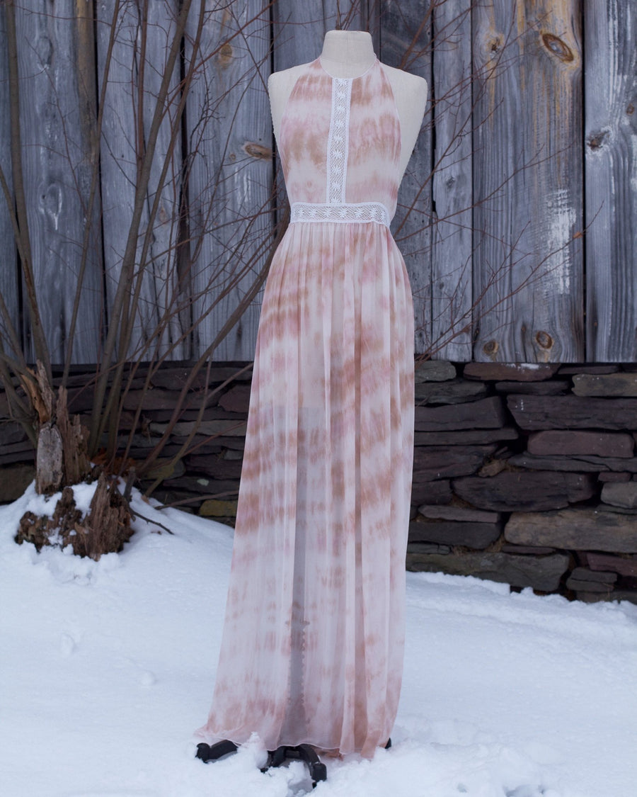 Painted Hills Hand Dyed Silk Chiffon Lingerie Night Gown