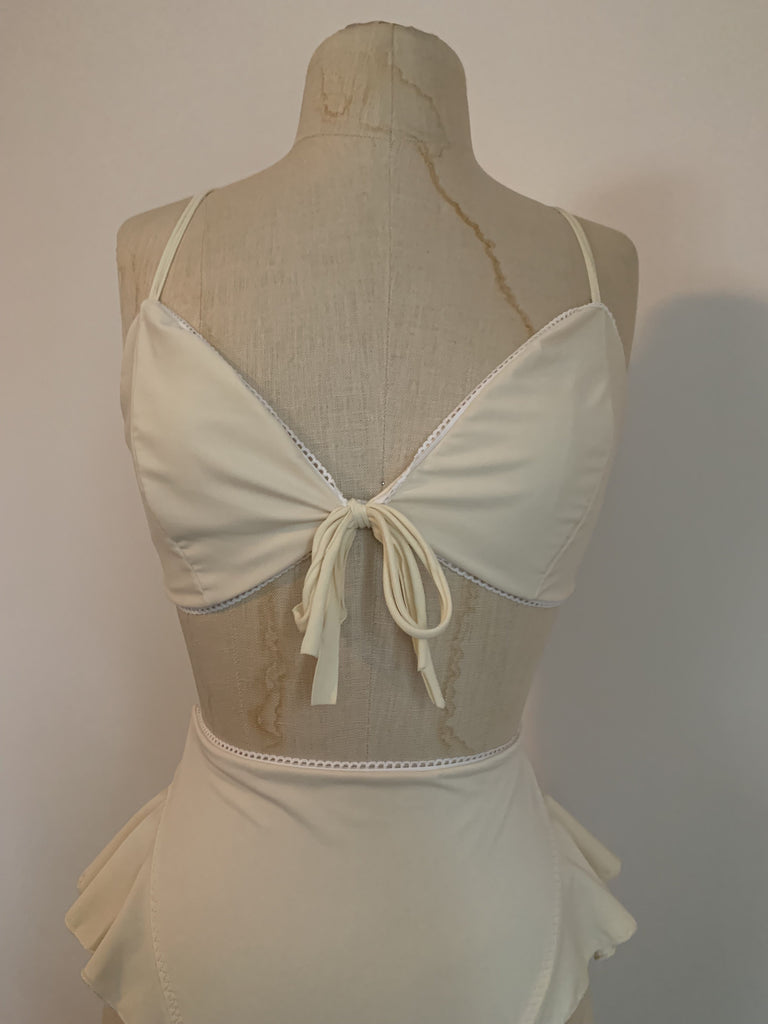 Ready To Ship Lovers Bikini Set in Ivory - Siobhan Barrett Handmade Lingerie