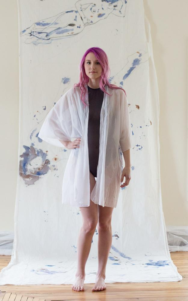 As A Woman I Hand Painted Cotton Robe Loungewear