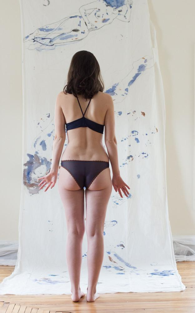 As A Woman I Mesh Navy Undies