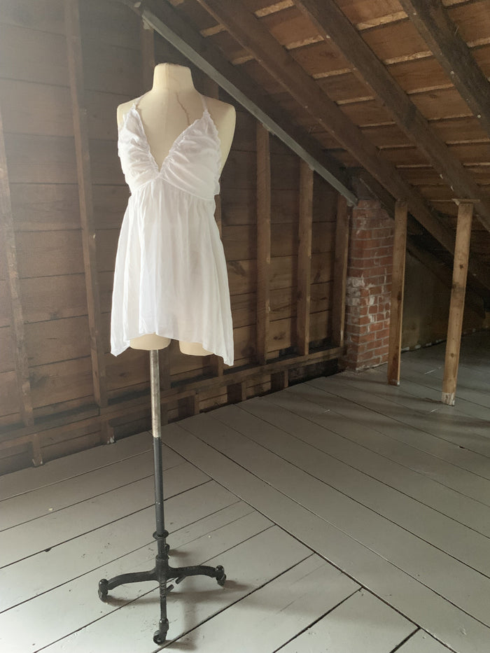 Ready to Ship White Cotton Nightgown - Siobhan Barrett Handmade Lingerie