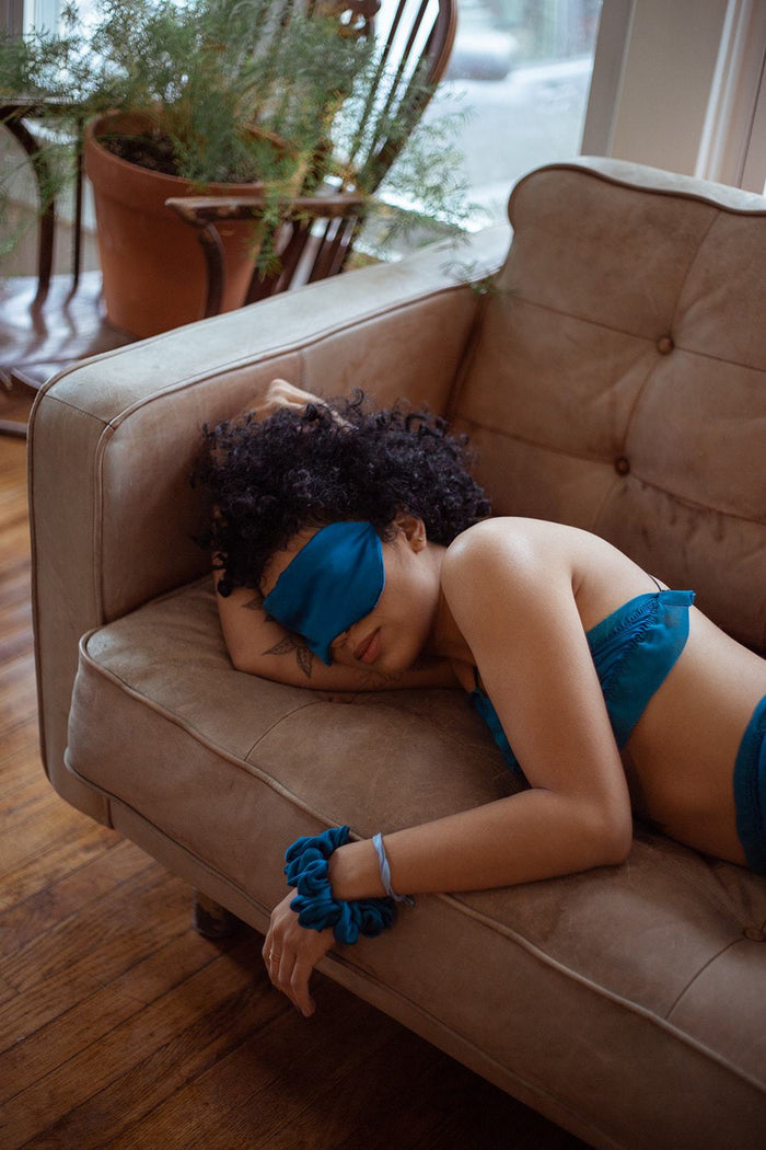 New Year Same You Silk Eye Mask - Siobhan Barrett Handmade Lingerie