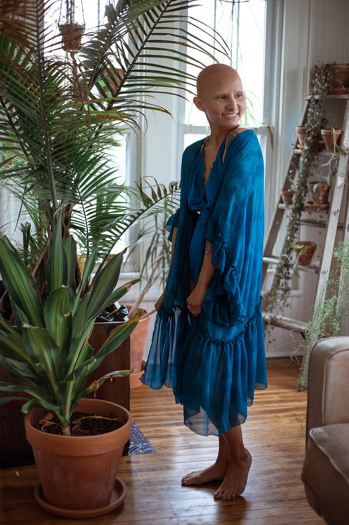 New Year Same You Silk Tie Dyed Robe - Siobhan Barrett Handmade Lingerie