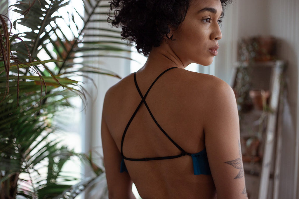 New Year Same You Silk Bralette - Siobhan Barrett Handmade Lingerie