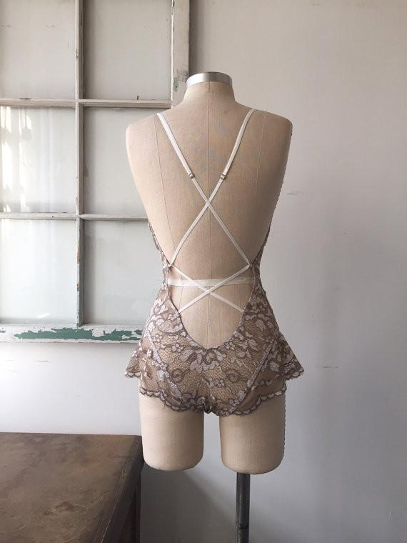 Bride to Be Mauve Lace Bodysuit