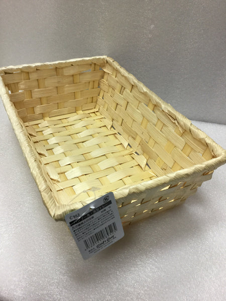 #bamboo square deep tray L