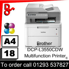 Brother DCP-L3550CDW Multifunction Printer Consumable Supplies - Toners, Maintenance Kits, Spare Parts & Accessories Next Day UK Delivery