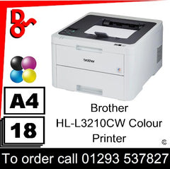Brother HL-L3210CW Colour Printer Consumable Supplies - Toners, Maintenance Kits, Spare Parts & Accessories Next Day UK Delivery