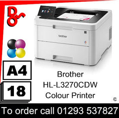 Brother HL-L3270CDW Colour Printer Consumable Supplies - Toners, Maintenance Kits, Spare Parts & Accessories Next Day UK Delivery
