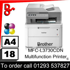 Brother MFC-L3730CDN Multifunction Printer Consumable Supplies - Toners, Maintenance Kits, Spare Parts & Accessories Next Day UK Delivery
