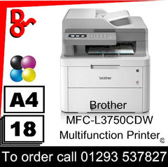 Brother MFC-L3750CDW Multifunction Printer Consumable Supplies - Toners, Maintenance Kits, Spare Parts & Accessories Next Day UK Delivery