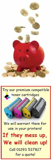 """Buy with confidence"" Try our DOS Toner Cartridges We will warrant them for use in your printers! If they mess up, We will clean up! DOS Toner Cartridges are not your run of the mill drill and fill cartridges. Our cartridges are premium Third Party Toner Cartridges. We have been supplying these cartridges to local business for the last ten years without issue. Use of compatible toners may invalidate a manufacturer's warranty."