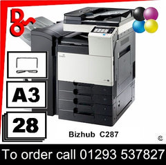 Konica Minolta Bizhub C287 MFP Printer - Toners, Drums, Fuser Units and Transfer Belts, Spare Parts & Accessories Crawley West Sussex Next Day UK Delivery