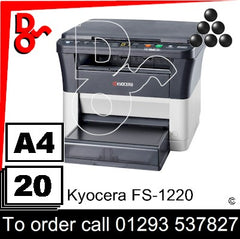 Consumable Supplies for Kyocera FS-1220 MFP - Toners, Maintenance Kits, Spare Parts & Accessories Next Day UK Delivery