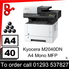 Kyocera M2040dn MFP Consumable Supplies - Toners, Maintenance Kits, Spare Parts & Accessories Next Day UK Delivery