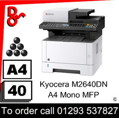 Kyocera M2640dn MFP Consumable Supplies - Toners, Maintenance Kits, Spare Parts & Accessories Next Day UK Delivery