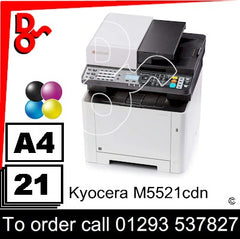Consumable Supplies for Kyocera M5521cdn - Toners, Maintenance Kits, Spare Parts & Accessories Next Day UK Delivery