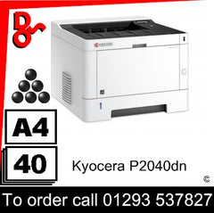 Kyocera P2040dn Consumable Supplies - Toners, Maintenance Kits, Spare Parts & Accessories Next Day UK Delivery
