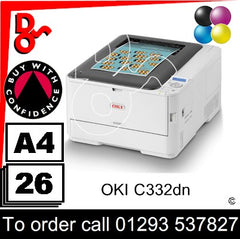 OKI C332 Printer Consumable Supplies - Toner, Drums, Fuser, Transfer Belt and Accessories Next Day UK Delivery