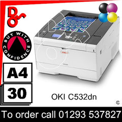 OKI C532dn Printer Consumable Supplies - Toners, Drums, Maintenance Kits, Spare Parts & Accessories Next Day UK Delivery