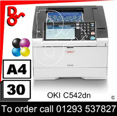 OKI C542dn Colour A4 Printer Consumable Supplies - Toners, Drums, Maintenance Kits, Spare Parts & Accessories Next Day UK Delivery