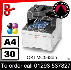 OKI MC563dn Colour A4 MFP Printer Consumable Supplies - Toners, Drums, Maintenance Kits, Spare Parts & Accessories Next Day UK Delivery