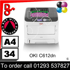OKI C612dn Printer Consumable Supplies - Toners, Maintenance Kits, Spare Parts & Accessories Next Day UK Delivery