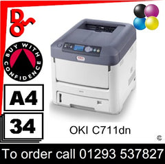 OKI C711dn Printer Consumable Supplies - Toners, Drums, Maintenance Kits, Spare Parts & Accessories Next Day UK Delivery