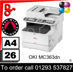 OKI MC636dn MFP Consumable Supplies - Toners, Maintenance Kits, Spare Parts & Accessories Next Day UK Delivery