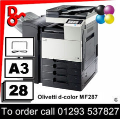 Olivetti d-Color MF283 MFP Printer - Toners, Drums, Fuser Units and Transfer Belts, Spare Parts & Accessories Next Day UK Delivery