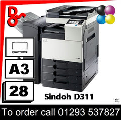 Sindoh D311 UK supplier of Consumables Toner Drums etc
