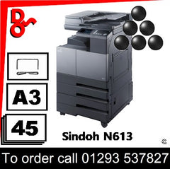Digital Office Solutions supply Sindoh N613 consumables Toner Drums etc for next day UK Nationwide delivery