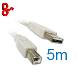 USB Printer Lead 5m, USB2 Pro-Signal A Plug to B Plug