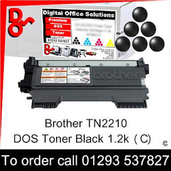 Call 01293 537827 to order Toner Brother Black (K) Toner Cartridge sales TN2210 TN-2210, 1.2k yield, in stock, nationwide next day delivery